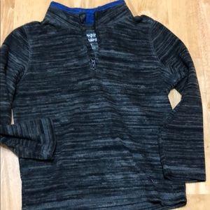 Little boys 1/4 zip fleece sweatshirt